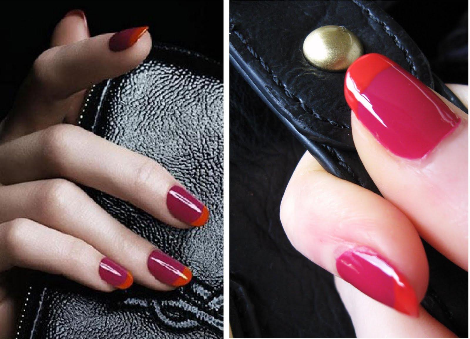 Как правильно красить ногти разными цветами фото