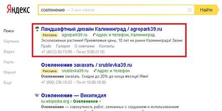 Контекстная реклама яндекс Калининград